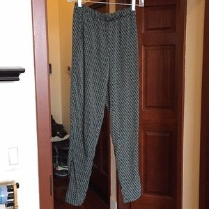 Black and gray trousers pants